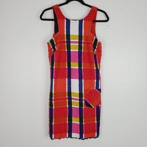 Trina Turk Vibrant Plaid 70's Vibe Shift Dress